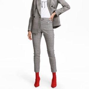 5 for $25 H&M plaid slim pants